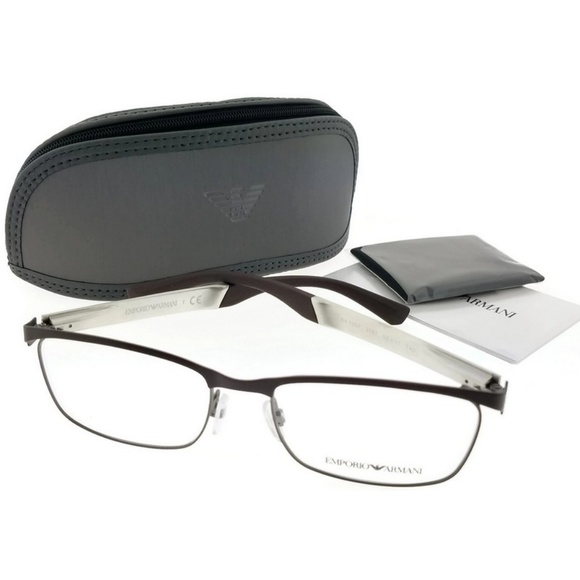 184332f4b95c EA1057-3161-52 Men s Brown Frame Eyeglasses. NWT. Emporio Armani